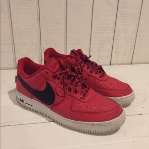 Red Nike Air Force 1's Men's